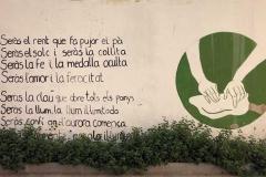 Versos d'Estellés a un mural de Godella